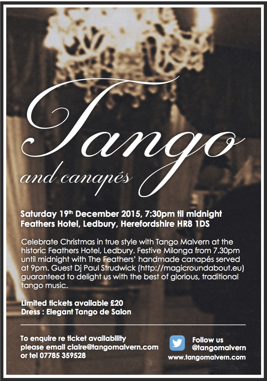 Tango malvern Tango and Canapes2015